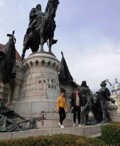 Mátyás szobor koszorúzása, Kolozsvár