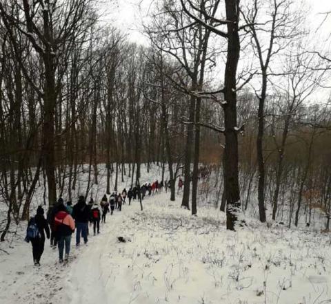 Januári túra 94 diákkal + szülők, barátok és 2 aranyos kutya.